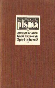 Barbara Winklowa KAROL IRZYKOWSKI.  - 2834462647