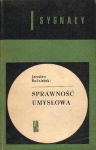 Jarosław Rudniański SPRAWNOŚĆ UMYSŁOWA. WYBÓR METOD [antykwariat] - 2834462756
