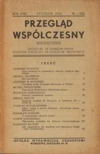 PRZEGLĄD WSPÓŁCZESNY. MIESIĘCZNIK. ROK XVIII, STYCZEŃ 1939, NR 1 (201) [antykwariat] - 2836520923