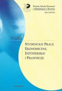 STUDENCKIE PRACE EKONOMICZNE, IN - 2861022978