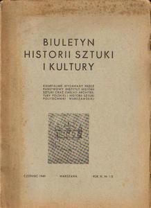BIULETYN HISTORII SZTUKI I KULTURY. ROK XI. NR 1/2 [antykwariat] - 2838791487