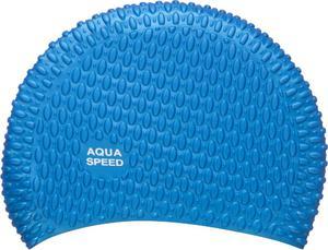 Czepek silikonowy na długie włosy Bubble Aqua-Speed (niebieski) - 2822243495