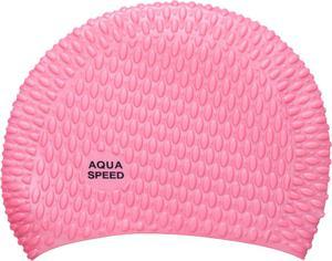 Czepek silikonowy na długie włosy Bubble Aqua-Speed (różowy) - 2822243496