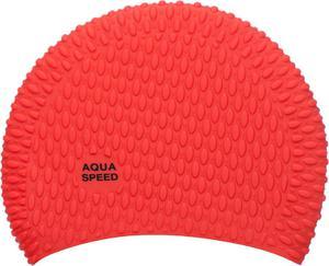 Czepek silikonowy na długie włosy Bubble Aqua-Speed (czerwony) - 2822243497