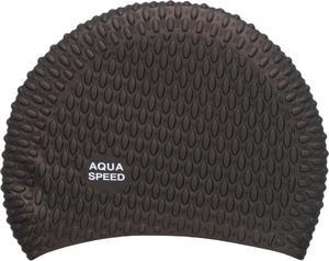 Czepek silikonowy na długie włosy Bubble Aqua-Speed (czarny) - 2822243499