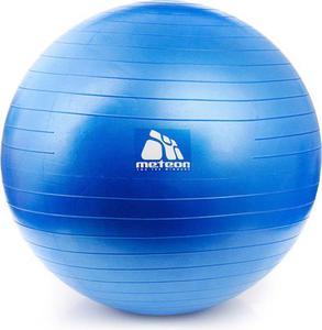 Piłka gimnastyczna 65cm z pompką Meteor (niebieska) / GWARANCJA 12 MSC. - 2841971517