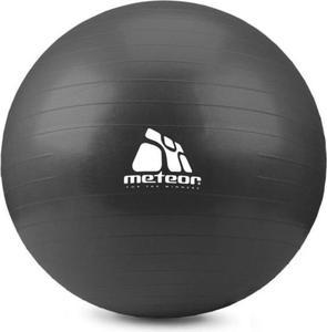 Piłka gimnastyczna 75cm z pompką Meteor (czarna) / GWARANCJA 12 MSC. - 2822243699