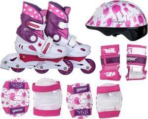 Zestaw rolki regulowane, kask, ochraniacze Tempish Ufo Baby Skate (różowe) / GWARANCJA 12 MSC. / Tanie RATY - 2855017954
