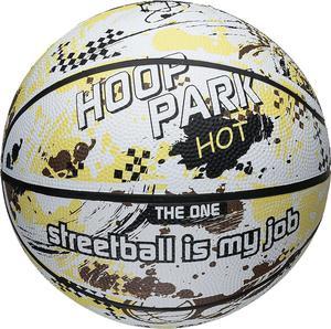 Piłka do koszykówki Hoop Park 7 Axer (żółta) / GWARANCJA 24 MSC. - 2822245908