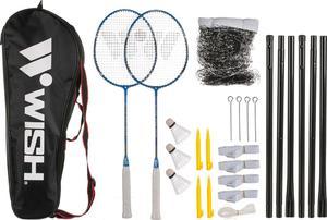 Zestaw do badmintona Wish 5566 (niebieski) / GWARANCJA 12 MSC. / Tanie RATY - 2822246127