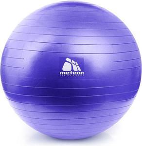 Piłka gimnastyczna 65cm z pompką Meteor (wrzos pastelowy) / GWARANCJA 12 MSC. - 2822246308