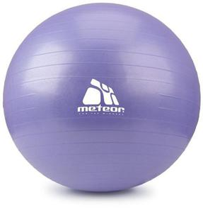 Piłka gimnastyczna 75cm z pompką Meteor (wrzos pasetlowy) / GWARANCJA 12 MSC. - 2822246311