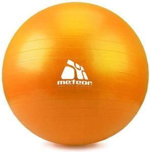Piłka gimnastyczna 75cm z pompką Meteor (pomarańczowa) / GWARANCJA 12 MSC. - 2822246312