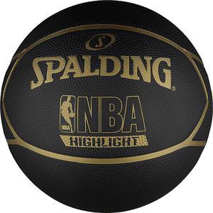 Piłka do koszykówki NBA Highlight black/gold Spalding / Tanie RATY - 2822247455