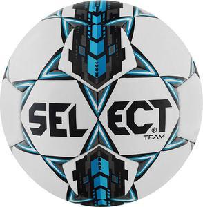Piłka nożna Team 5 Select (biało-niebieska) - 2845152054