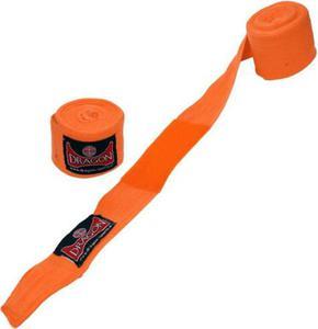 Bandaż bokserski bawełniany 3m Dragon (pomarańczowy) - 2822248467