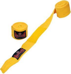 Bandaż bokserski bawełniany 4m Dragon (żółty) - 2822248468