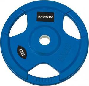 Obciążenie olimpijskie żeliwne ogumowane 20kg 51mm Sportop / Tanie RATY - 2822248545
