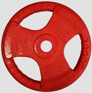 Obciążenie olimpijskie żeliwne ogumowane 25kg 51mm Sportop / Tanie RATY - 2822248546