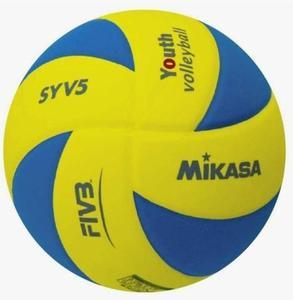 Piłka siatkowa Soft Mikasa (żółto-niebieska) - 2822249468