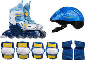 Zestaw Combo rolki-wrotki+kask+ochraniacze+torba SMJ (niebieski) / Tanie RATY - 2822250066