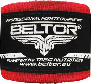 Owijki, bandaże bokserskie 3m 2 szt. Beltor (czerwone) - 2822250512
