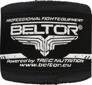 Owijki, bandaże bokserskie 4m 2 szt. Beltor (czarne) - 2822250510