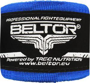 Owijki, bandaże bokserskie 4m 2 szt. Beltor (niebieskie) - 2822250516
