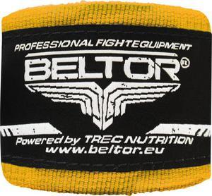 Owijki, bandaże bokserskie 4m 2 szt. Beltor (żółte) - 2822250518