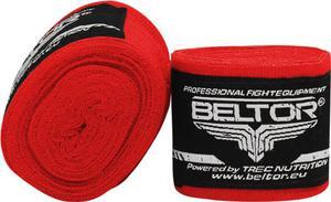 Owijki, bandaże bokserskie elastyczne 3m 2 szt. Beltor (czerwone) - 2822250532