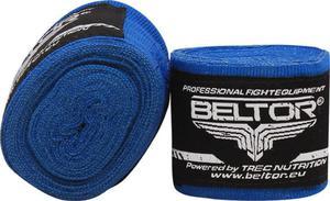 Owijki, bandaże bokserskie elastyczne 4m 2 szt. Beltor (niebieskie) - 2822250540