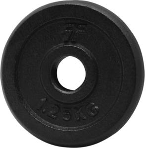 Obciążenie żeliwne czarne 1,25kg 29mm Platinum Fitness - 2822250593