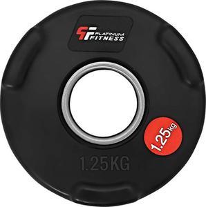Obciążenie olimpijskie żeliwne ogumowane 1,25kg 51,5mm Platinum Fitness - 2822250606