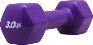 Hantla żeliwna winylowa 3kg Platinum Fitness - 2822250628