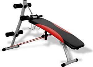 Ławka skośna z podpórkami i ekspanderami Platinum Fitness / Tanie RATY - 2822250647