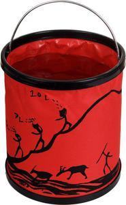 11-litrowe składane wiadro turystyczne Bushmen (czerwone) - 2822250743