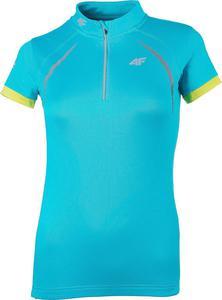 T-shirt koszulka rowerowa damska RKD001 4F (turkusowy) - 2822251347