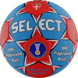 Piłka ręczna Match Soft 3 Select (niebiesko-czerwona) / Tanie RATY - 2822251397