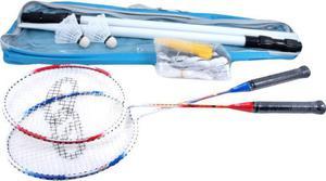 Zestaw do badmintona 8455D rakietki + lotki + siatka SMJ - 2822252364