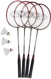 Zestaw do badmintona 4 rakietki + 3 lotki + siatka BR-023 SMJ - 2822252368