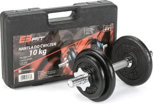 Zestaw z hantlą i obciążeniami 10kg w walizce Energetic Body / Tanie RATY - 2852657595