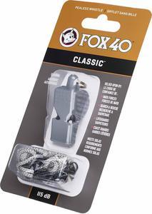 Gwizdek sędziowski Classic Safety ze sznurkiem Fox 40 (szary) - 2836869577