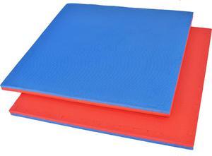 Mata do ćwiczeń puzzle 25mm EKO Yoshimats (czerwono-niebieska) - 2836695368