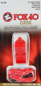 Gwizdek sędziowski Classic Safety ze sznurkiem Fox 40 (czerwony) - 2836869696
