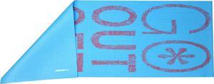Mata do ćwiczeń 173x61x0,6cm Axer (niebieska z napisem) - 2837225526