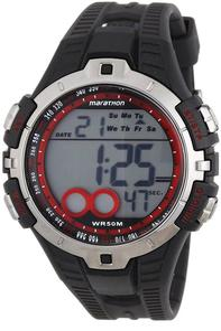 Zegarek Marathon Digital Timex (czarno-czerwony) / Tanie RATY - 2841971550