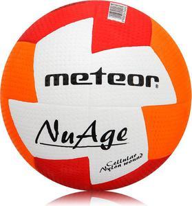 Piłka ręczna NuAge Junior 1 Meteor (biało-pomarańczowo-czerwona) - 2857591989