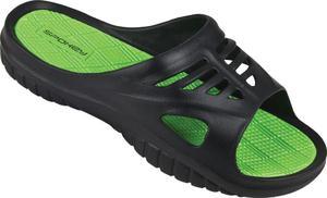 Klapki basenowe męskie Merlin Spokey (zielone) - 2841281189