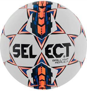 Piłka nożna Brillant Replica 5 Select (biało-pomarańczowo-niebieska) - 2844201439