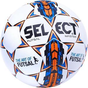 Piłka nożna Futsal Master 4 Select (biało-niebiesko-pomarańczowa) / Tanie RATY - 2852220097